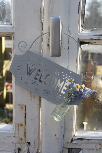 Welcome Schild der VL Garden-Collection